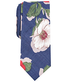 Bar III Men's Peiton Floral Skinny Tie, Created for Macy's