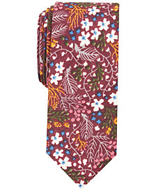 Bar III Men's Whimsy Floral Skinny Tie, Created for Macy's