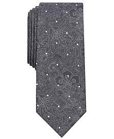 Tallia Men's Stover Dot & Floral Slim Tie