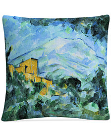 "Cezanne Mont Saintevictoire And Chateau Noir 16"" x 16"" Decorative Throw Pillow"