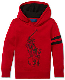 Polo Ralph Lauren Little Boys Logo Graphic Wool Hoodie