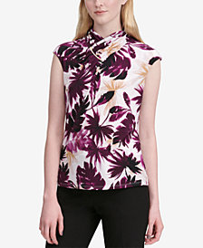 Calvin Klein Printed Hardware-Embellished Top