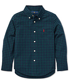 Polo Ralph Lauren Toddler Boys Poplin Cotton Shirt