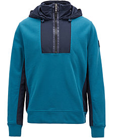 BOSS Men's French Terry Cotton Hooded Sweatshirt