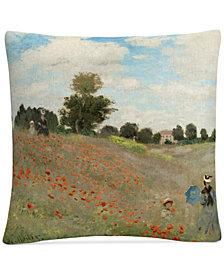 """Claude Monet Wild Poppies Near Argenteuil 16"""" x 16"""" Decorative Throw Pillow"""