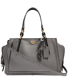 COACH Mixed Leather Dreamer Satchel