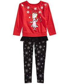 Hybrid Little Girls 2-Pc. Grinch Sweatshirt & Leggings Set