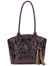 Patricia Nash Zorita Burnished Tooled Leather Satchel