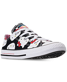 Converse Little Girls' Chuck Taylor Ox Hello Kitty Casual Sneakers from Finish Line