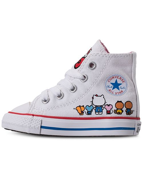 5b7734af27a ... Converse Toddler Girls  Chuck Taylor High Top Hello Kitty Casual  Sneakers from Finish ...