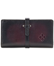 Patricia Nash Nevola Stained Leather Checkbook Case
