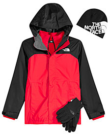 The North Face Big Boys Vortex Hooded Triclimate Jacket, Anders Beanie & Etip Gloves
