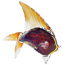 Murano Style Firestorm Fish Art Glass Sculpture