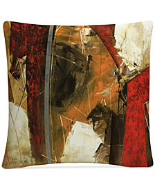 "Masters Fine Art Abstract IX 16"" x 16"" Decorative Throw Pillow"