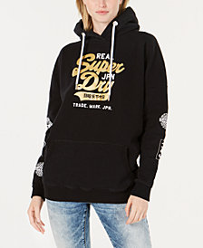 Superdry Cotton Pullover Graphic Hoodie