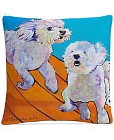 "Pat Saunders-White Catch Me 16"" x 16"" Decorative Throw Pillow"