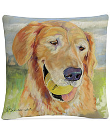 "Pat Saunders-White Gus 16"" x 16"" Decorative Throw Pillow"