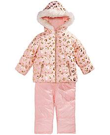 Carter's Little Girls Animal-Print Hooded Snowsuit
