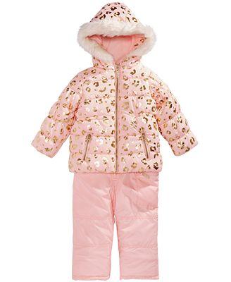 Carter S Little Girls Animal Print Hooded Snowsuit Reviews Coats