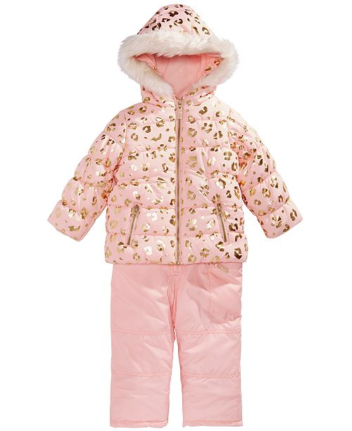 42edc8f3b Carter s Little Girls Animal-Print Hooded Snowsuit   Reviews - Coats ...