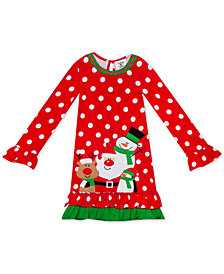 Rare Editions Little Girls Dot-Print Holiday Dress