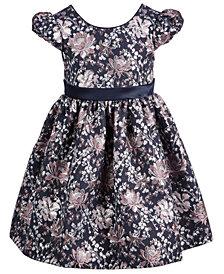 Bonnie Jean Toddler Girls Metallic Brocade Bow-Back Dress