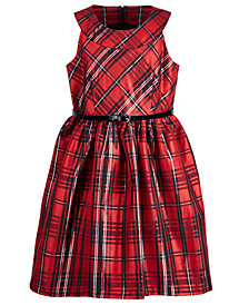 Bonnie Jean Big Girls Plus Metallic Plaid Dress