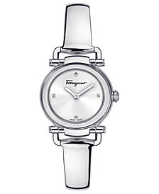 Ferragamo Women's Gancino Casual Stainless Steel Bangle Bracelet Watch 26mm