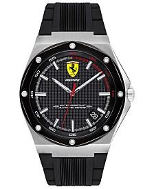 Ferrari Men's Aspire Black Silicone Strap Watch 42mm