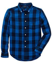 Polo Ralph Lauren Big Boys Reversible Plaid Cotton Shirt