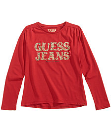 GUESS Big Girls Long-Sleeve Graphic-Print T-Shirt
