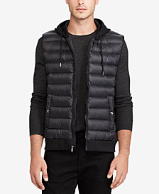 Polo Ralph Lauren Men's Down-Panel Double-Knit Vest