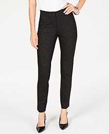 Alfani Metallic-Print Slim-Leg Pants, Created for Macy's