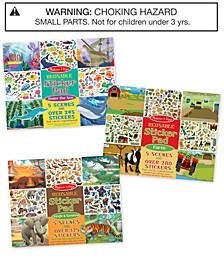 Melissa & Doug Reusable Sticker Pad Jungle, Farm & Under the Sea Bundle