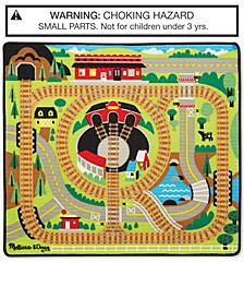 Melissa & Doug Round the Rails Train Rug Playmat