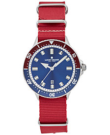 Lucky Brand Men's Dillon Sport Red Nato Strap Watch 42mm
