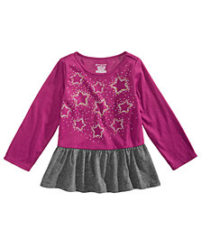 First Impressions Baby Girls Star-Print Peplum Tunic, Created for Macy's