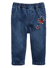 First Impressions Baby Girls Star Patch Denim Jeans, Created for Macy's