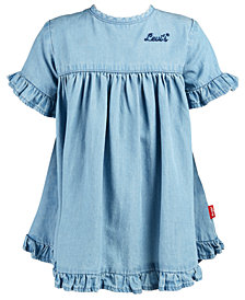 Levi's® Baby Girls Ruffle-Trim Denim Dress