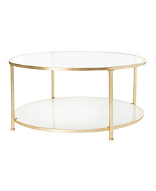 Ivy 2-Tier Round Coffee Table, Quick Ship