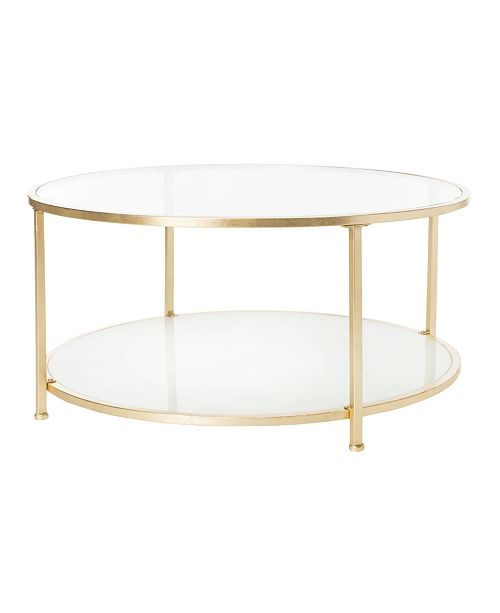 Furniture Ivy 2-Tier Round Coffee Table, Quick Ship