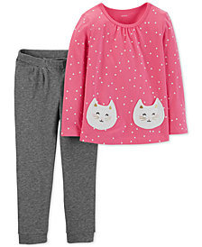 Carter's Baby Girls 2-Pc. Cotton Top & Pants Set