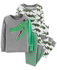 Carter's Baby Boys 4-Pc. Snug-Fit Cotton Alligator Pajamas Set