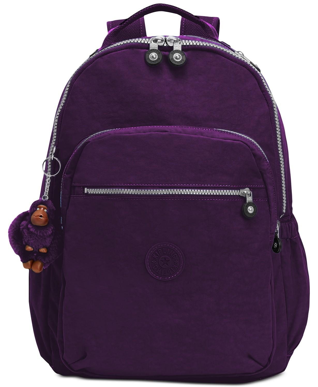 ffc4539c65 Macy s – KIPLING Seoul Go Large Backpack in Deep Purple Silver just  47.88  (Reg  114)