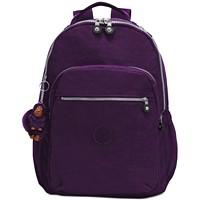 Kipling Seoul Go Large Backpack (Deep Purple/Silver)