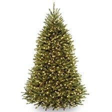 National Tree 7 .5' Dunhill  Fir Hinged Tree with Clear Lights