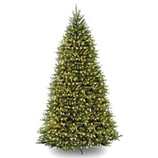 National Tree 12' Dunhill Fir Hinged Tree with 1500 Clear Lights