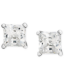 Princess-Cut Diamond Stud Earrings in 14k White Gold & Yellow Gold (1/3 ct. t.w.)