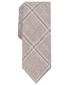 Tallia Men's Sebring Glen Plaid Slim Tie