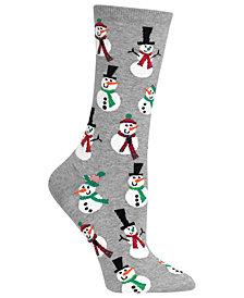 Hot Sox Women's Snowmen Crew Socks